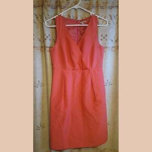 Halogen Nordstrom Deep V Coral Dress